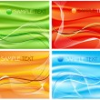 Royalty-Free Stock Imagen vectorial: Four abstract compositions