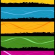 Seven abstract grunge banners - Stock Vector