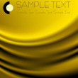 Smooth golden satin — Stockvector #3061234