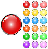 3D web glossy colored buttons — Stock Vector