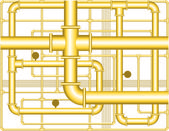 Pipes background — Stock Vector
