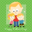 Stock Vector: Happy Father's Day - Blond