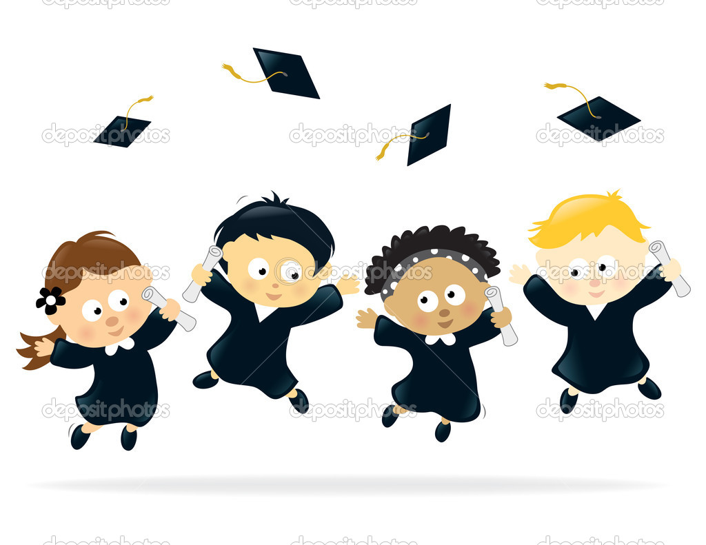 Graduation celebration stock illustration