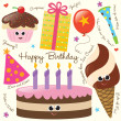 Royalty-Free Stock Vektorgrafik: Birthday Party Set