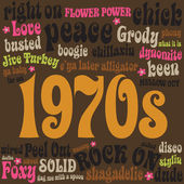 1970s phrases and slangs — Stock Vector