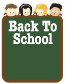 Geri okul ilanı — Stok Vektör