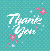 Thank You Card — Vector de stock