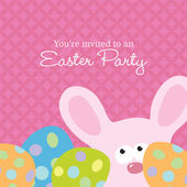 Easter Invite Template — Stock Vector