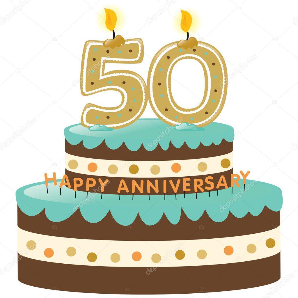 50th Anniversary Clip Art 50th anniversary cake and