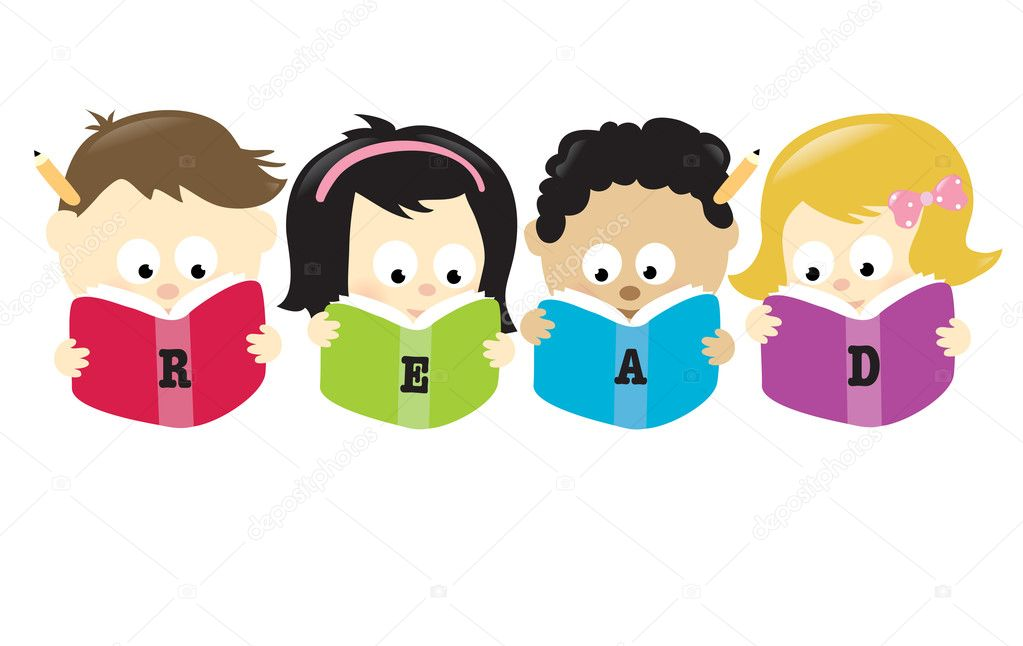 Students Reading Books Together Students reading books Happy High School Student Clipart