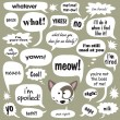 Royalty-Free Stock Vector Image: Cat w/ phrases in balloons