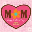70s Style Mothers Day Card - Stock Vector