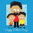 Happy Fathers Day African American - Stock Vector