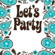 Royalty-Free Stock Vector Image: Party flyer w/ paisley
