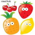 fruta isolada conjunto 2 — Vetorial Stock