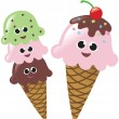 Royalty-Free Stock ベクターイメージ: Isolated Ice Cream Cones