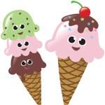 Isolated Ice Cream Cones — Stock Vector