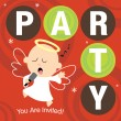 Christmas Party Invite — Stock Vector #3104218