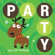 Stock Vector: Christmas Party Invite