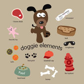 Dog Elements — Stock Vector