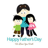 Happy Fathers Day isolated — Stock Vector