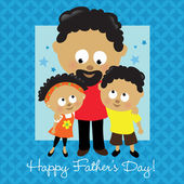 Happy Fathers Day African American — Vector de stock