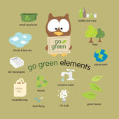 Go Green Elements — Stock Vector