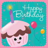 Happy Birthday Card — Vettoriale Stock