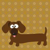 Dachshund (hot dog) dog — Stock Vector