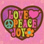 七十年代爱和平喜悦设计 — 图库矢量图片