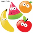 Isolated fruit set — Stock Vector