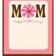 Happy Mothers Day Template — Stock Vector