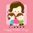 Happy Mothers Day Caucasian — Stock Vector #3117097