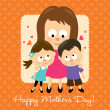 Stock Vector: Happy Mothers Day Hispanic