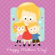Happy Mother's Day Blonde — Stock Vector