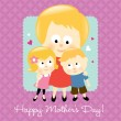 Royalty-Free Stock Vector Image: Happy Mother\'s Day Blonde