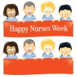 Happy Nurses Week — Imagen vectorial