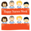 Happy Nurses Week — Stockvectorbeeld