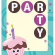 Stock Vector: Party flyer template