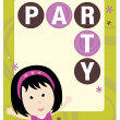 Party kid flyer template — Stock Vector