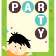 Royalty-Free Stock Vector Image: Party kid flyer template
