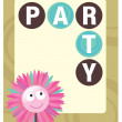 Party flyer template — Stock Vector