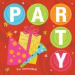 Cool Party Invitation — Stock Vector