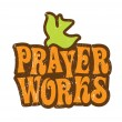 Prayer Works T-shirt Design — Stock Vector