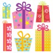 Various Presents/Gifts — Imagen vectorial