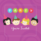 Party kids invitation — Stock Vector