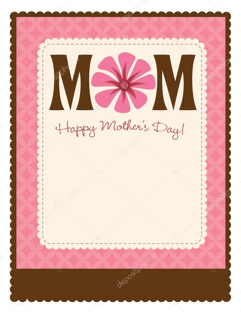 8.5x11 Happy Mothers Day Flyer/Poster Template — Stock Vector #3117091