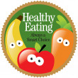 Healthy Eating Label — Stock Vector