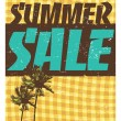 Summer Sale Template — Stock Vector