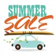Stock Vector: Summer Sale w/ car